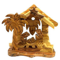 Small Bethlehem Olive Wood Nativity - Bethlehem