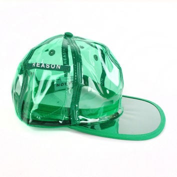 PVC Clear Baseball Hat