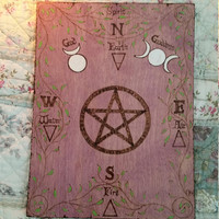 SALE 25% OFF Today ONLY was 20.00 now 15.00 Portable Altar Spiritual pagan ghost love book holiday witch wood spells leather
