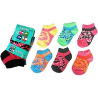 Toddler Girl's Low Cut Socks 3-Pack - Tie Dye - Si