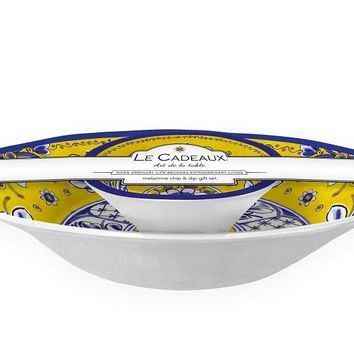 Le Cadeaux Benidorm Chip and Dip 2 Bowl Set