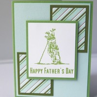 Hand Made Happy Father's Day Golf Themed Card