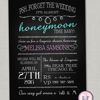 Lingerie shower invitation printable- chalkboard bachelorette invitation- forget the wedding- funny bachelorette invite
