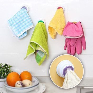 Wash Cloth Clip Holder Dishclout Storage Rack Kitchen Bathroom Detachable Hand Towel Hanger