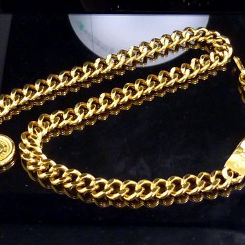 100% Auth CHANEL Chain Chain Belt Coco Mark G973