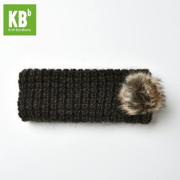 2017 KBB Spring   4 Colors   Winter Infinity Lambswool Wool Pom Pom Women Men Children Winter Knit Headband Hair Accessories