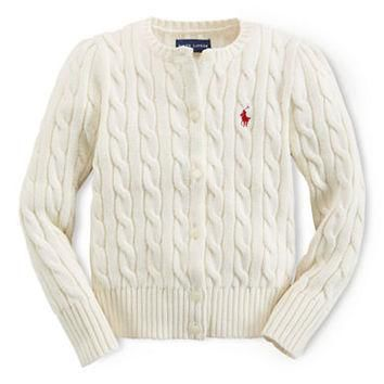 Ralph Lauren Childrenswear Girls 2-6x Cable Knit Cardigan