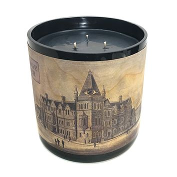 Triple Wick Wood Wrapped Candle