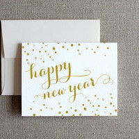 Set of 4 Happy New Year Cards