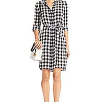 DVF Prita Silk Shirt Dress