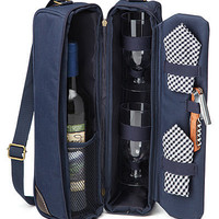 SUNSET WINE TOTE | Insulated Canvas Travel Case Set | UncommonGoods