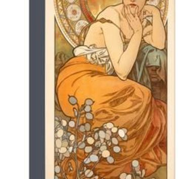 The Precious Stones: Topaz, 1900 Giclee Print by Alphonse Mucha at Art.com