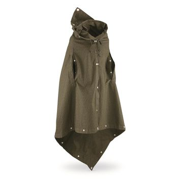 East German Military Surplus Poncho Shelter Half, New - 678016, Rain Gear & Ponchos at Sportsman's Guide