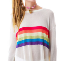 BLU Kanvas Rainbow Slice Sweater Multi