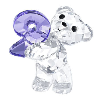 Swarovski Crystal Figurine KRIS BEAR NUMBER NINE Number 9 Birthday #5108731