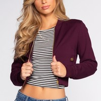 Irreplaceable Bomber Jacket - Plum