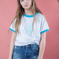 Unicorn tee, unicorn t shirt women, unicorn shirt, unicorn top, blue unicorn , embroidered t-shirt, unicorn shirt, motif unicorn shirt