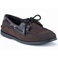 Men's Authentic Original Boat Shoe in Brown Buc by Sperry Top-Sider