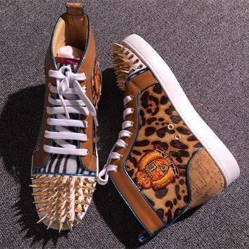 Cl Christian Louboutin Pik Pik Style #1982 Sneakers Fashion Shoes