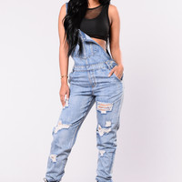 This Must Be It Overalls - Denim