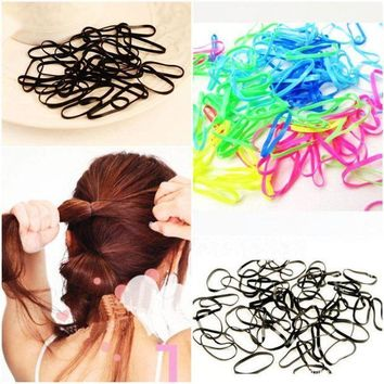 PEAPGC3 300pcs/pack Rubber Rope Ponytail Holder Elastic Hair Bands Ties Braids Plaits hair clip headband Hair Band Accessories