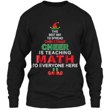 Math Teacher Christmas  - Elf Christmas Cheer LS Ultra Cotton Tshirt