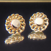 Round Chain Button Stud Earrings Costume Jewelry Fashion Accessories For Her