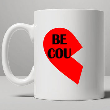 right heart of the best couple Mug, Tea Mug, Coffee Mug