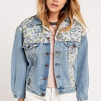 Urban Renewal Vintage Originals Tapestry Insert Denim Jacket - Urban Outfitters