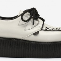 Underground Creepersp | Double Sole Wulfrun Creepers White Leather | Shoes,Creepers,Underground