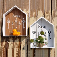 Key Organizer Storage Box - Key Hanger-  Wood Storage Shelf  Racks