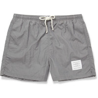 Thom Browne - Short-Length Herringbone-Print Swim Shorts | MR PORTER