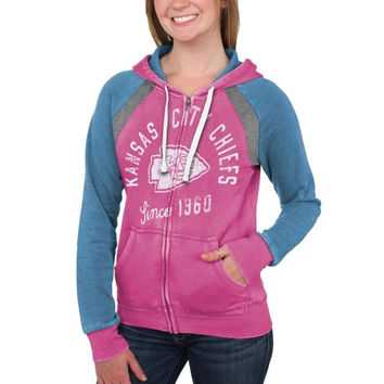 Kansas City Chiefs Women's Stella Full Zip Hoodie - Pink