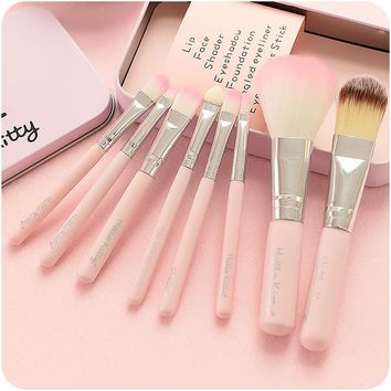 Innovative Box Set Professional Eye Shadow Make-up Brush Set [110447656985]