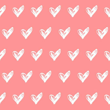 6291 Pink Background White Hearts Pattern Backdrop