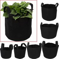 1/2/3/5/7/10 Gallon Black Plants Growing Bag Vegetable Flower Aeration Planting Pot Container