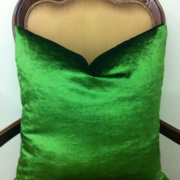 Emerald Green Velvet Pillow Covers, Green Pillow, Kissen, Decorative Pillow, Green Velvet Cushion Covers Case, Green Velvet Throw Pillows