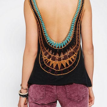 Urban Outfitters - Staring At Stars Inset Crochet-Back Tank Top