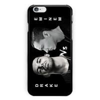 Drake versus Eminem Black White Art Hard Plastic Case For iPhone 6s, 6s plus