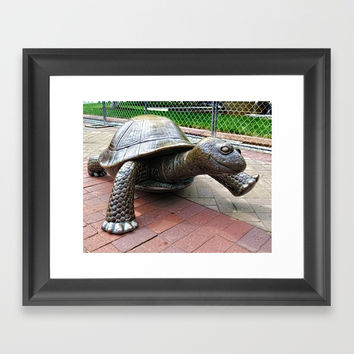 The Tortoise Framed Art Print by lanjee