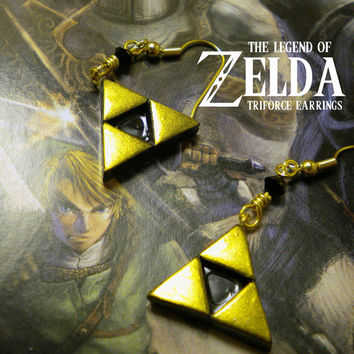Triforce Earrings - Legend of Zelda - Nintendo