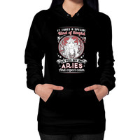 Aries girl Hoodie (on woman)