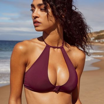 Out From Under High Neck Cut-Out Solid Bikini Top   Urban Outfitters
