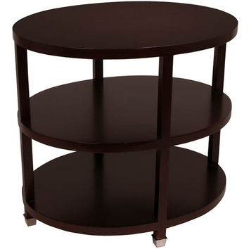 Arteriors Home Espresso Wood Oval Side Table - Arteriors Home 3915