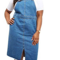 Darling Denim Overalls Dress