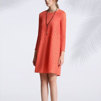 miyake pleaseelegant round collar stereoscopic pleated dress jacquard fold dress free shipping