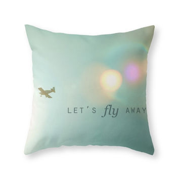 Society6 Let's Fly Away Throw Pillow