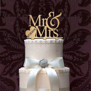 Rustic Mr and mrs Wedding Cake Topper, Monogram wedding cake topper, cake decor, cake decoration