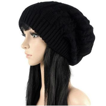 PEAPUNT Sell Like Hot Cakes Fashion Caps Warm Autumn Winter Knitted Hats For Women Stripes Double-deck Skullies Men's Beanies 6 Colors