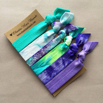 The Monica Hair Tie - Ponytail Holder Collection by Elastic Hair Bandz on Etsy